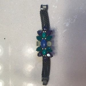 Stella & Dot Peacock statement bracelet